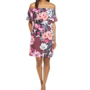 Nordstrom CeCe off the shoulder shift dress